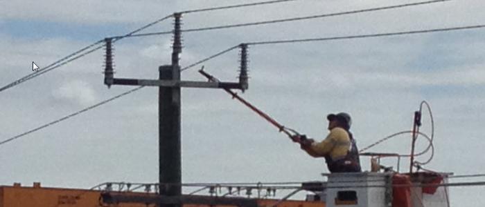 Energised High Voltage Insulator Maintenance Powerline